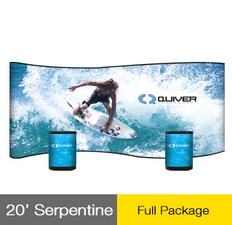 20ft Serpentine Big Wave Pop-Up Display