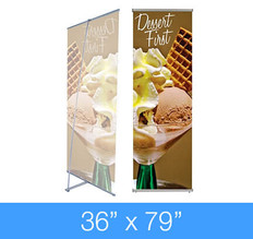 "L-Stand Banner Stand 36"" x 79"""