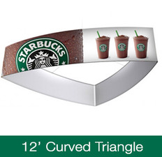 Curved Triangle Hanging Sign