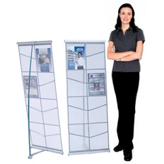 MESH LITERATURE RACK WIDE