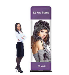 2ft EZ Fab Banner Stand Display Wide