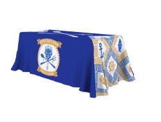 6-foot full-color printed table throw