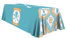 8 foot full color one choice table throw