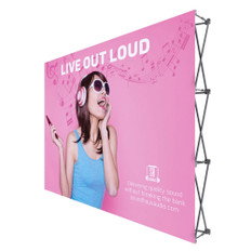 One Choice 10ft Straight ReadyPop Fabric Display