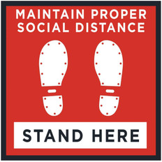 "24"" x 24"" Floor Decal Social Distance"