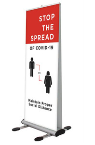 Stop The Spread Outdoor Retractable Banner Stand