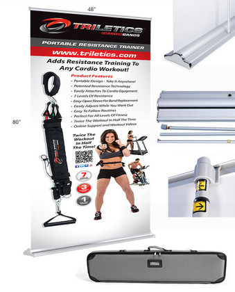 SilverStep 48-inch Pull-up Banner Stand