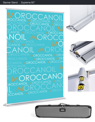 SilverStep 60-inch Retractable Banner Stand Details