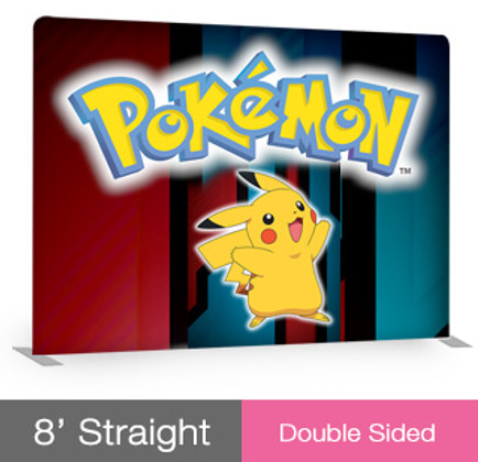 8ft Straight EZ Tube Display - Double Sided
