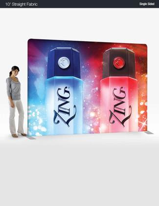 10 ' Straight EZ Tube - Single Sided Graphic