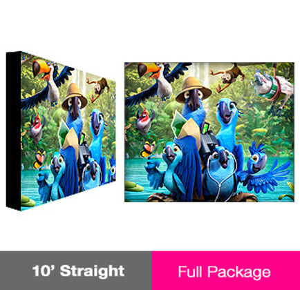 10ft Straight ReadyPop Fabric Display