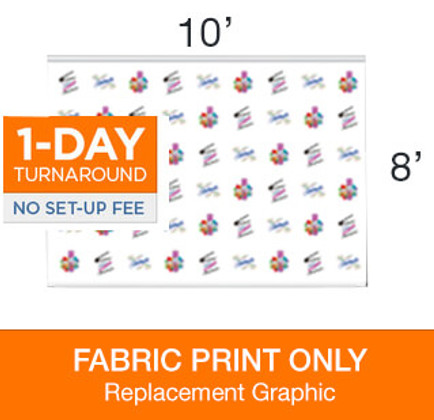 Jumbo Step & Repeat 10 x 8 Backdrop Replacement Print
