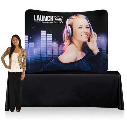 8ft Table Top EZ Tube Fabric Display