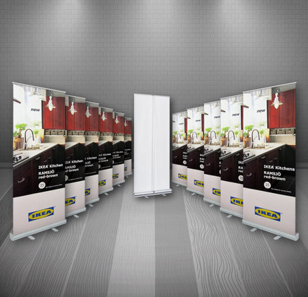 EconoRoll Banner Stand 12-Pack