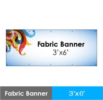 Fabric Banner 3' x 6'