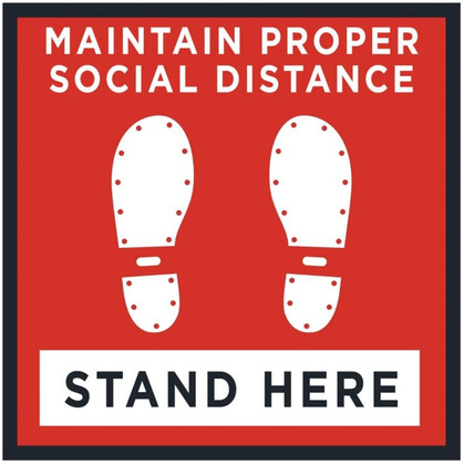 "24"" x 24"" Floor Decal Social Distance"