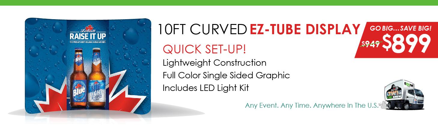 EZ Tube Fabric Marketing Display
