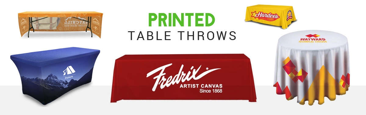 printed table throws