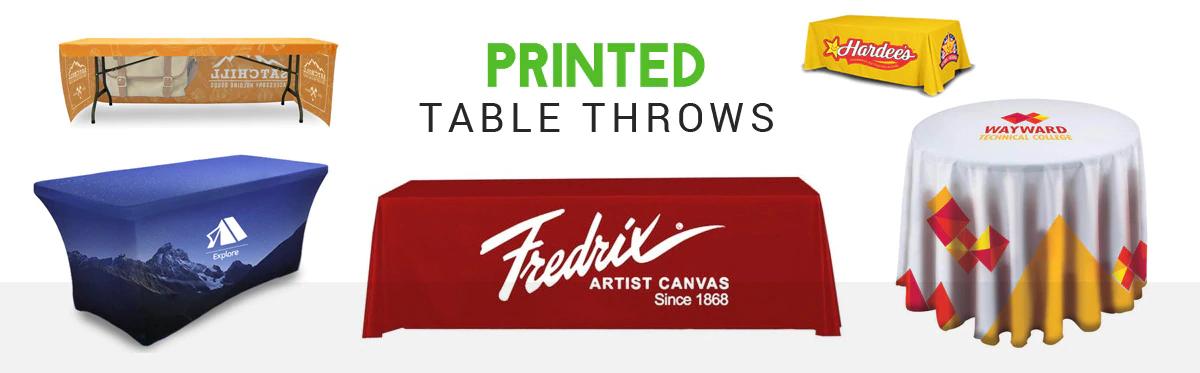 custom printed table throws