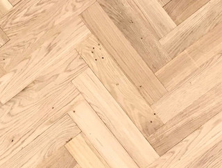 350mm x 70mm Herringbone Rustic Oak Unfinished