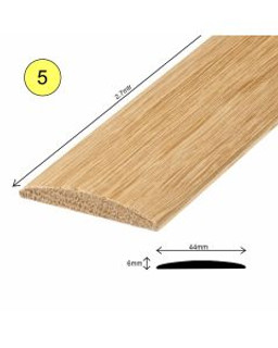 44MM X 6MM X 2700M OAK COVER STRIP Unfinished