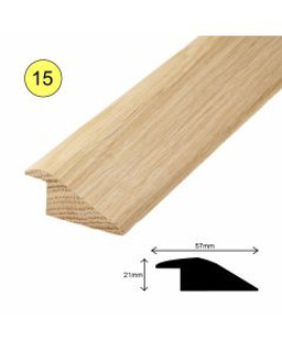 57MM X 21MM x 900 mm OAK RAMP PROFILE FOR 15MM FLOORS