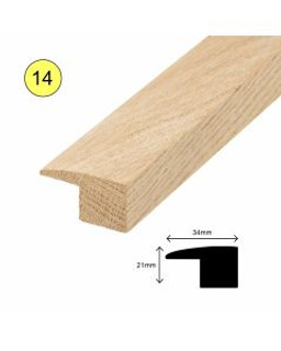 34MM X 21MM x 2700 mm OAK L PROFILE FOR 15MM FLOORS
