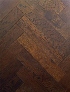 600mm x 120mm Herringbone Oak Monet Brushed & Matt Lacquer
