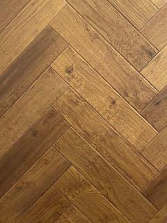 600mm x 120mm Herringbone Oak Rembrant Brushed & Matt Lacquer