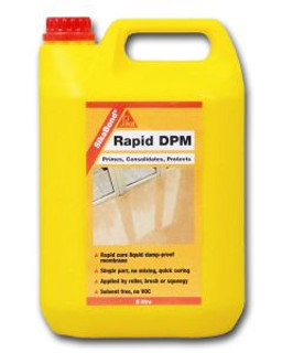 SikaBond Rapid DPM - Single part moisture curing reaction polyurethane - 5ltr Free Shipping.