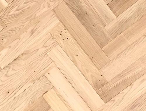 350mm x 70mm Herringbone Rustic Oak Unfinished