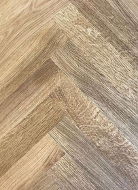 350 mm x 70 mm Herringbone Oak Rustic Grade Oiled