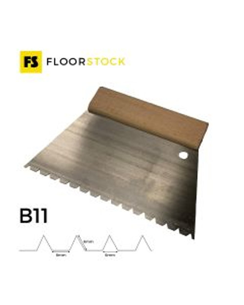 22CM B11 ADHESIVE TROWEL WITH WOODEN HANDLE