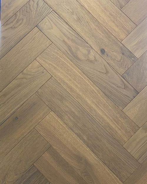 600mm x 120mm Herringbone Oak Matisse Brushed & Matt Lacquer