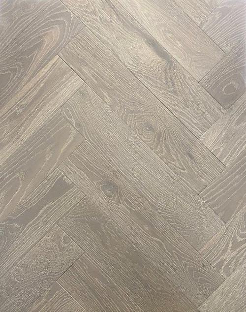 600mm x 120mm Herringbone Oak Dali Brushed & Matt Lacquer