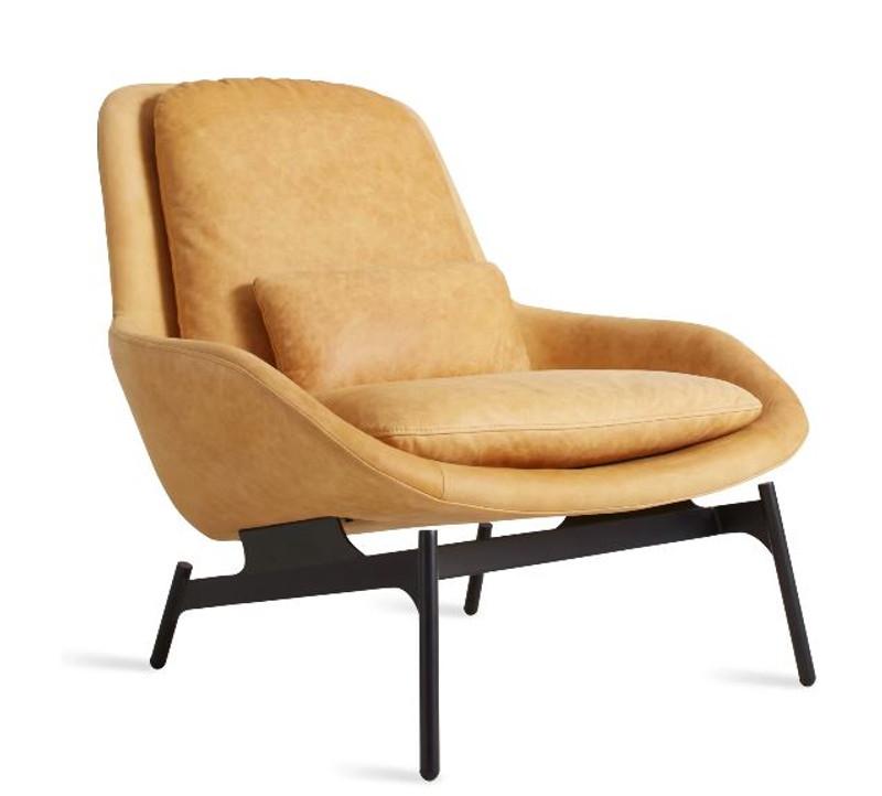 Awe Inspiring Blu Dot Field Leather Lounge Chair Ibusinesslaw Wood Chair Design Ideas Ibusinesslaworg