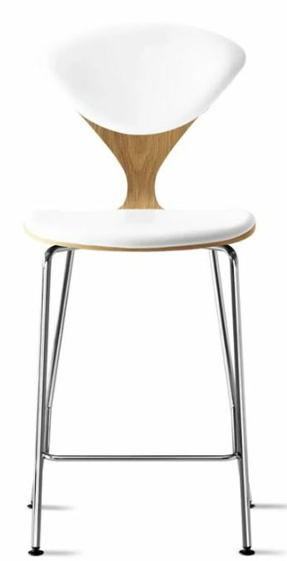 White Oak Hairpin Chair With Back Support Beeswax Coated Base