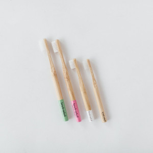 Brush Naked Family 4-Pack Bamboo Toothbrush