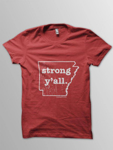 Strong y'all. | Arkansas Flood Victims Shirt