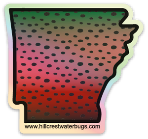Fly Fish | Arkansas Holograph Sticker