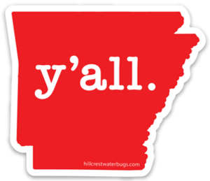 Arkansas y'all. | Sticker (3 inches)