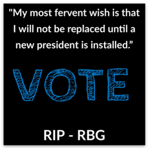 RIP RBG | VOTE sticker. Honor her :)