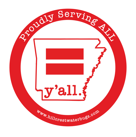 Serving ALL - Equality y'all. Sticker