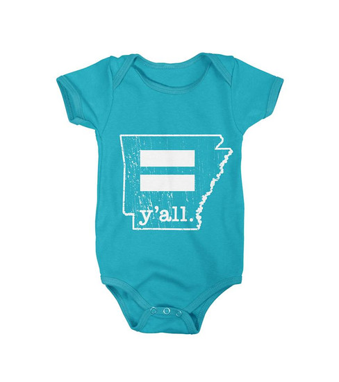 Youth Arkansas Equality y'all. Onesie