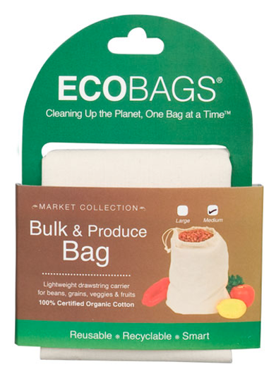 ECOBAGS Market Collection Organic Cloth Bulk & Produce Bag - Medium