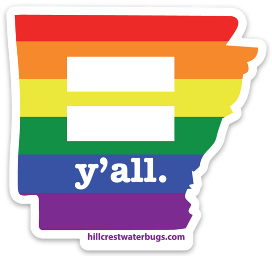 Equal y'all. Sticker | 3 inches