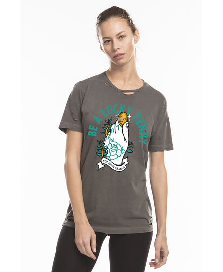 Be a Lucky Penny   Vintage One of a Kind Custom T Shirt