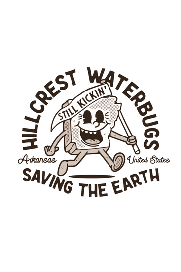 The Outsider Mascot - Hillcrest Waterbugs | Die Cut Sticker 3in