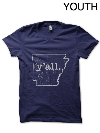Youth Arkansas y'all T-Shirt
