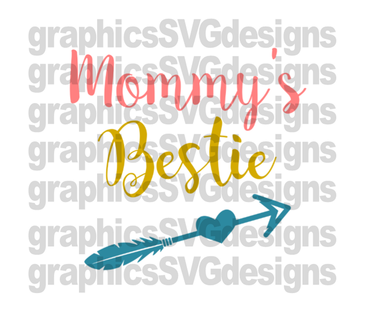 Mommy S Bestie Digital Download Svg Dxf Png Cutting File